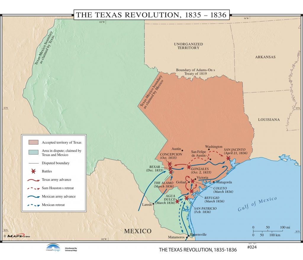 024 The Texas Revolution, 1835-1836 – Kappa Map Group - Texas Map 1836