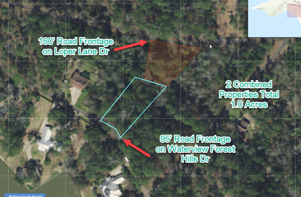 1.0 Acre Waterview Lot With 2X Road Frontage On Lake Livingston, Tx - Texas Land For Sale Map