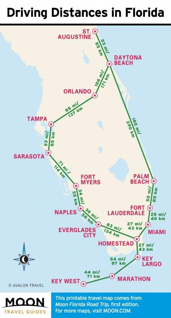 1-Week Florida Road Trip: Miami, The Atlantic Coast, & Orlando - Florida Atlantic Coast Map