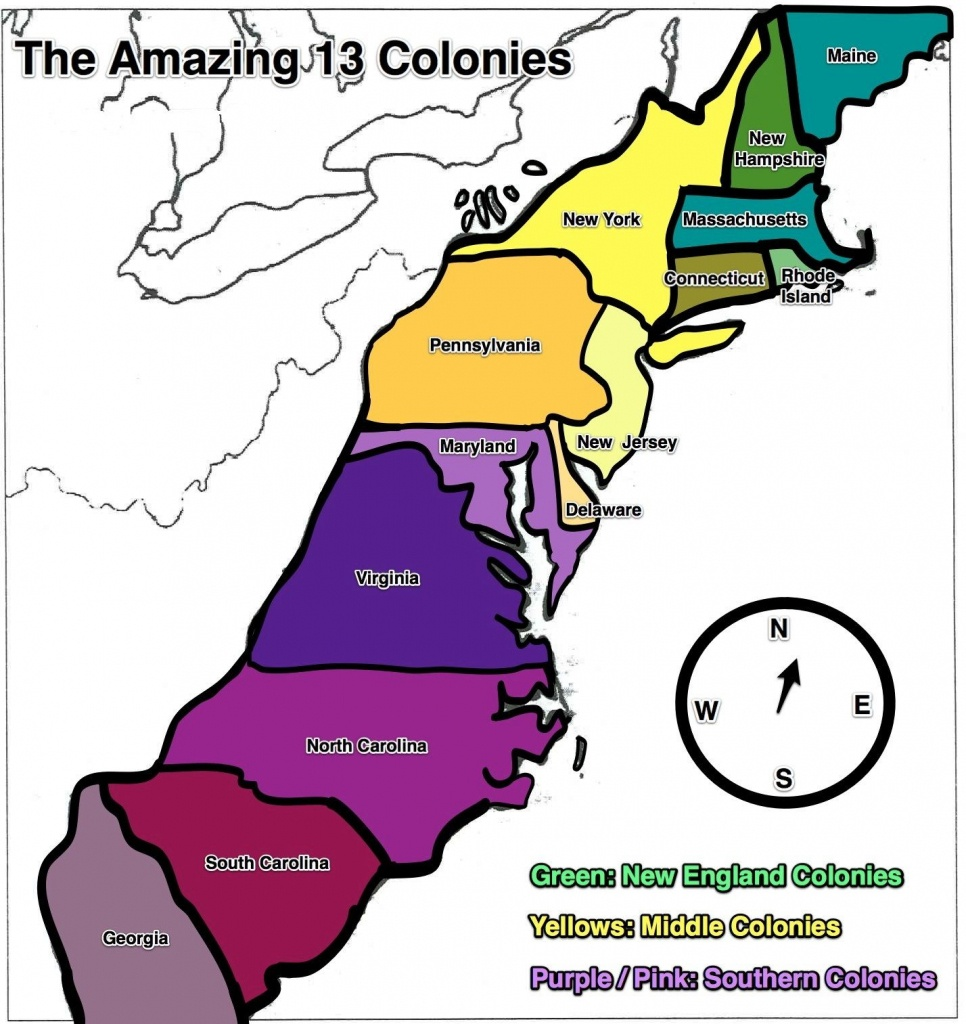 13 Colonies Map - Free Large Images | Home School | 13 Colonies - New England Colonies Map Printable