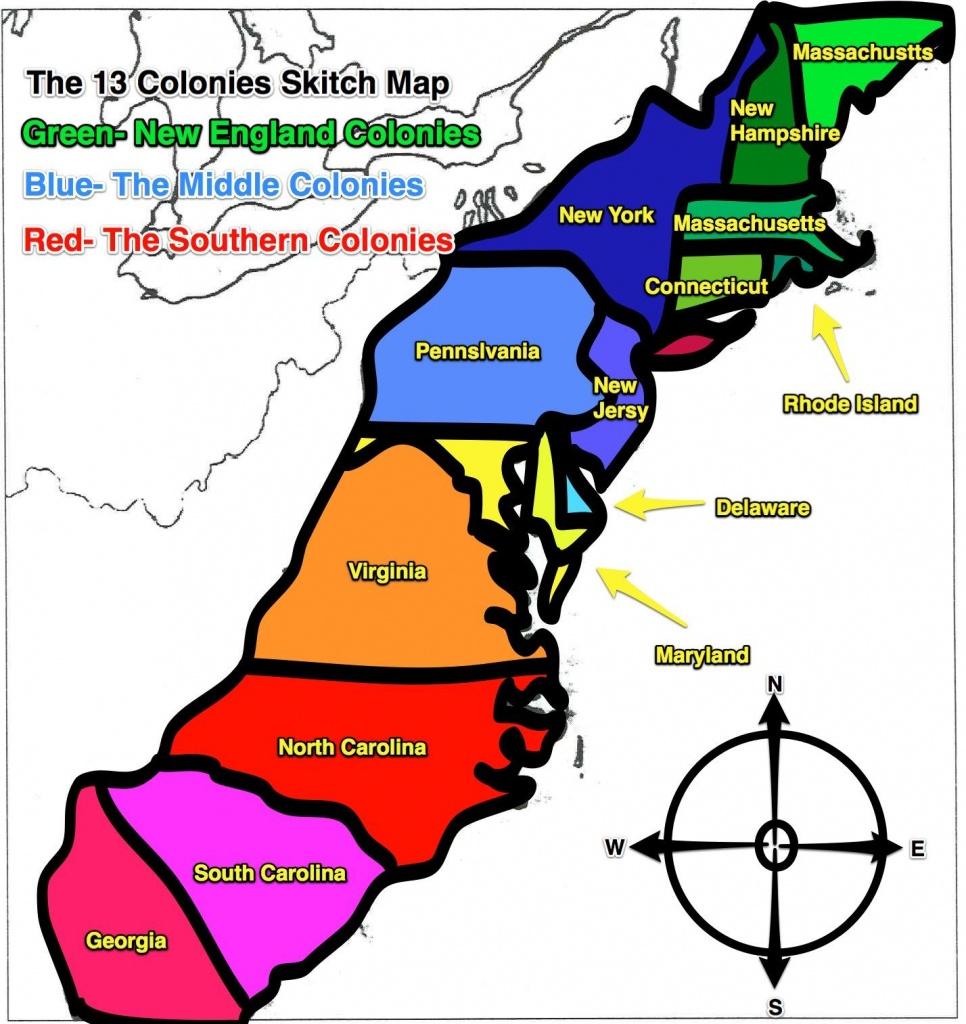 13 Colonies Map | Original+13+Colonies+Blank+Map | Social Studies - Printable Map Of The 13 Colonies With Names