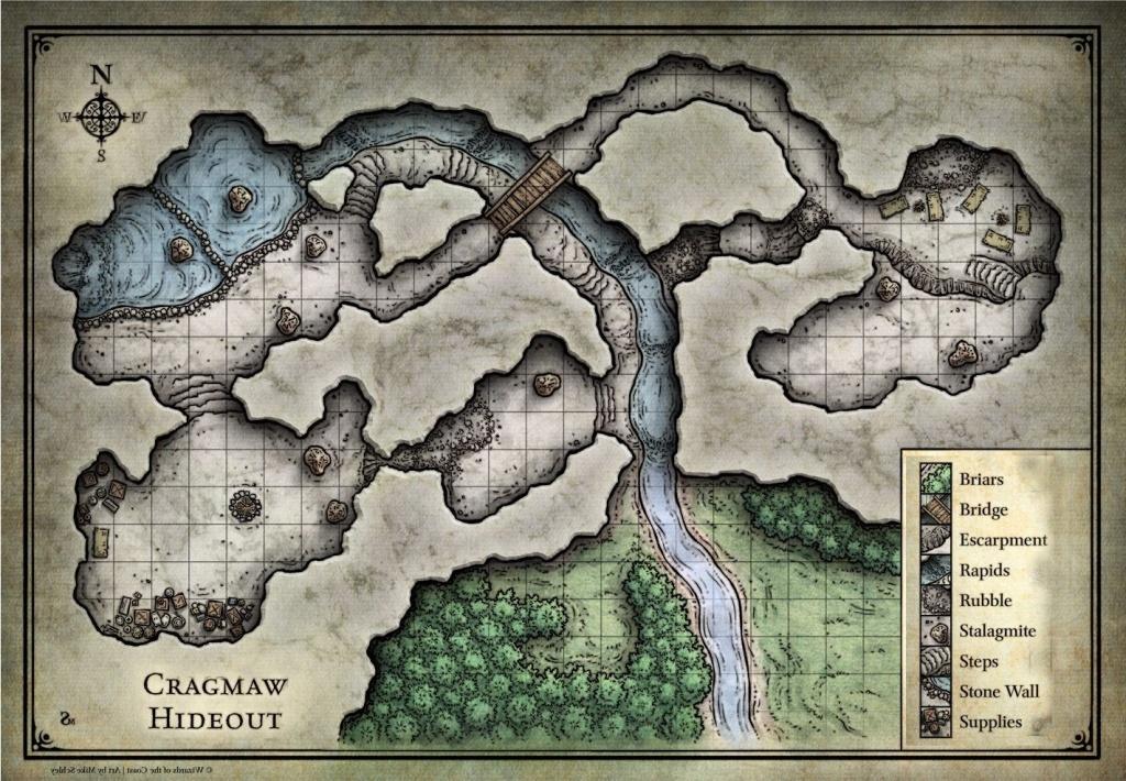 13 Cragmaw Hideout Map | Ageorgio - Cragmaw Hideout Printable Map