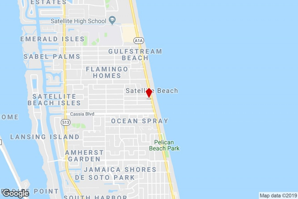 1300 Hwy A1A, Satellite Beach, Fl, 32937 - Commercial Property For - Satellite Beach Florida Map