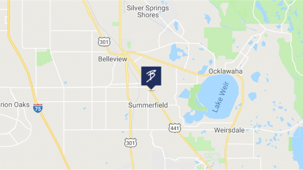 13685 S Us Highway 441, Summerfield, Fl 34491 - Retail Space For - Summerfield Florida Map