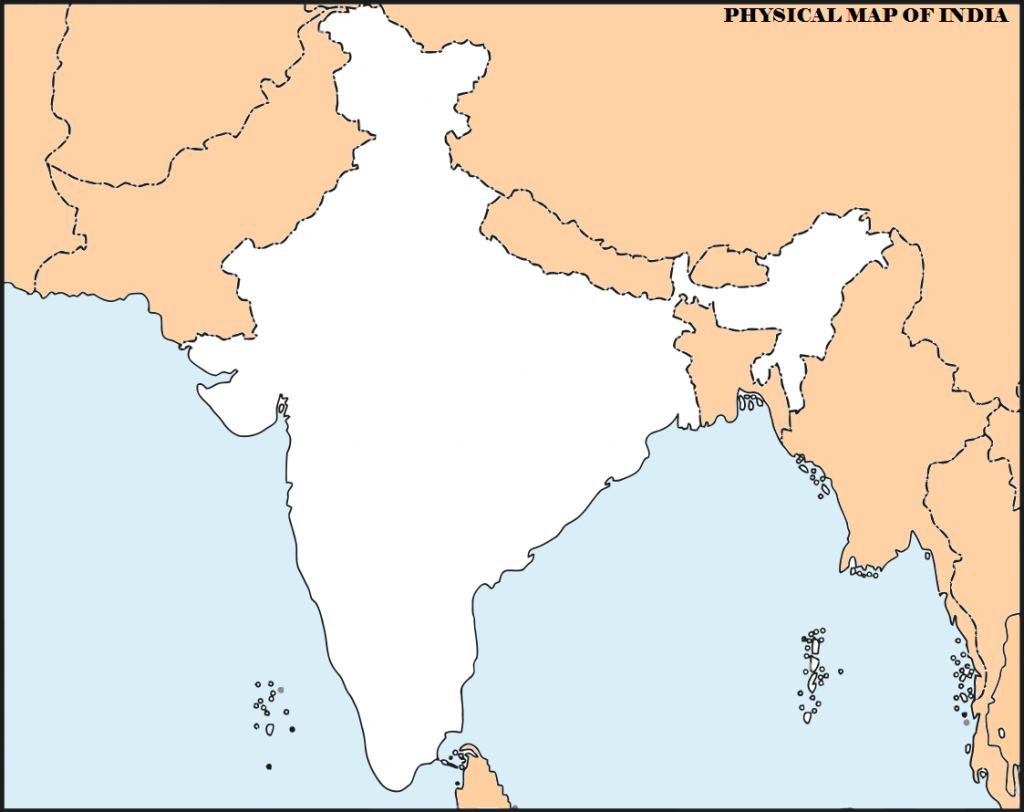 14 Important Maps Of India (Physical And Political Map) – Best Of India! - Physical Map Of India Blank Printable