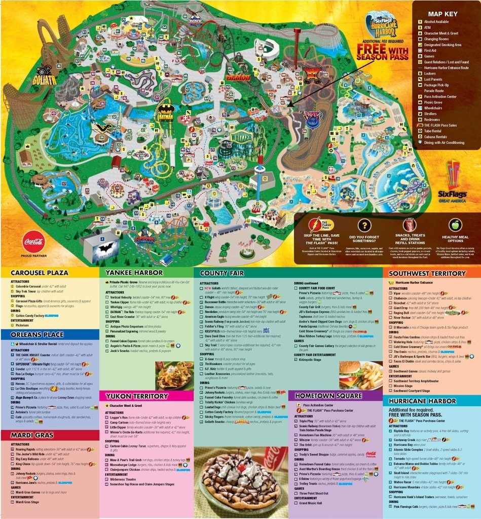 15317 Thumbnail 1024 Six Flags Great America Map 6 - World Wide Maps - Six Flags Great America Printable Park Map