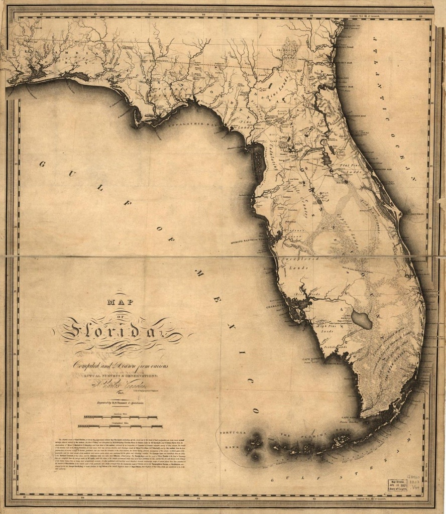 1823, Florida State Map, Florida, United States | Me Likey | Florida - Antique Florida Maps For Sale