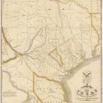 "1830 First Edition Of The Austin Map Of Texas: ""The Map Of Texas I   Stephen F Austin Map Of Texas"