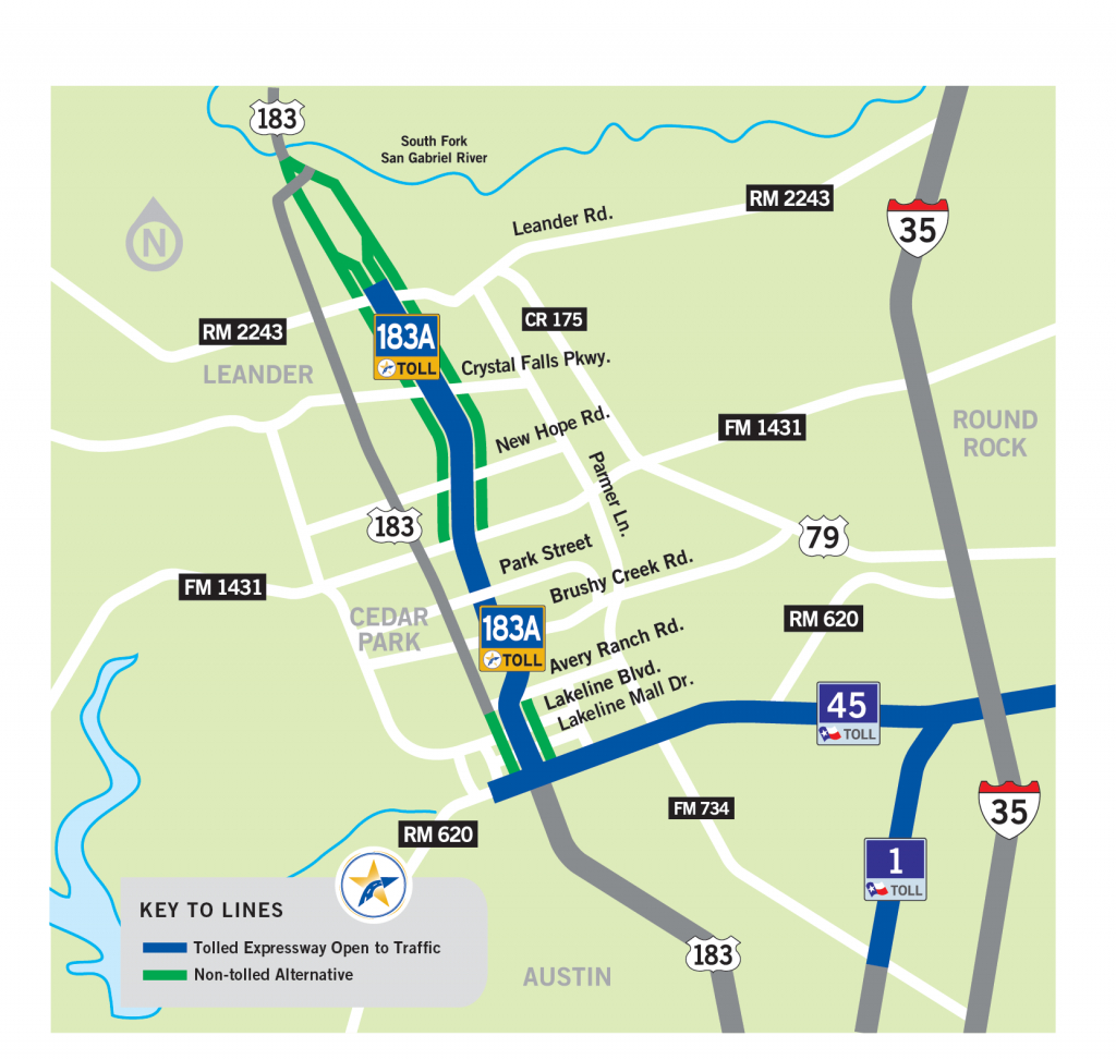 183A Toll | Central Texas Regional Mobility Authority - Texas Toll Roads Map