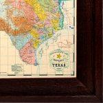 1845 Republic Of Texas Map Framed Art   Texas Map Framed Art