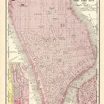 1895 Antique New York City Map Reproduction Print Map Of Manhattan   Antique Texas Map Reproductions