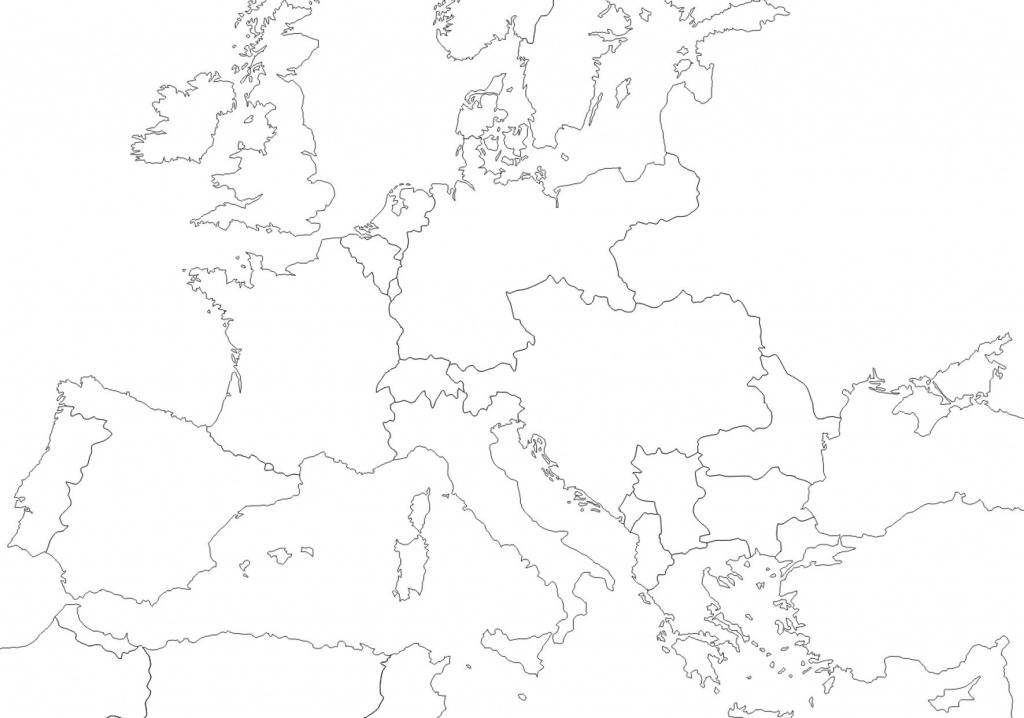 1914 - Outline Map Of Europe   Wwi In 2019   Europe 1914, Map - Blank Map Of Europe 1914 Printable