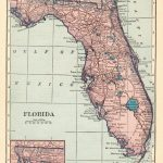 1926 Antique Florida Map Vintage Map Of Florida State Map Gallery   Florida Map Wall Art