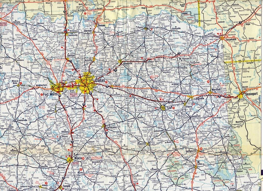 1965 Enco North Texas Road Map   Maps   Texas Road Map, Map, Texas - North Texas Highway Map