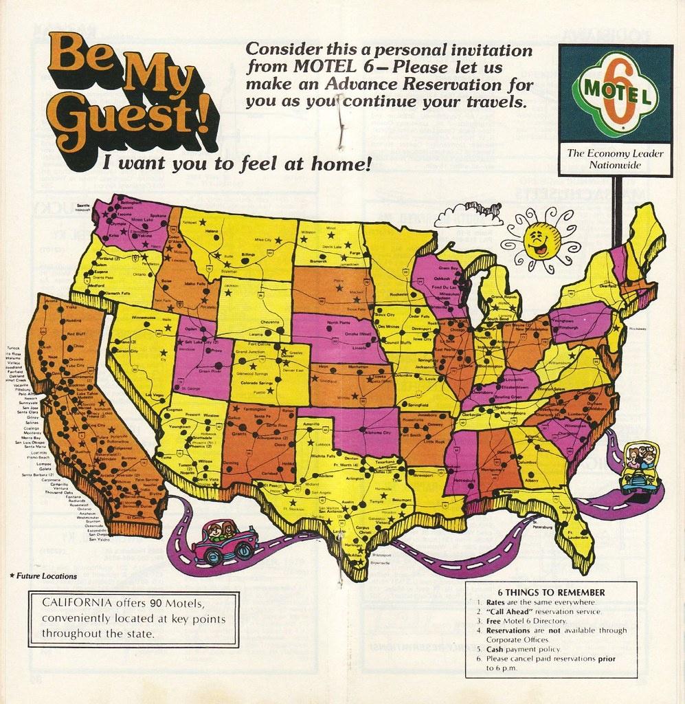 1979 Motel 6 Directory   Locations Map   Jasperdo   Flickr - Motel 6 Locations California Map