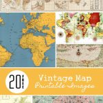 20 Free Vintage Map Printable Images | Remodelaholic #art   Create Printable Map