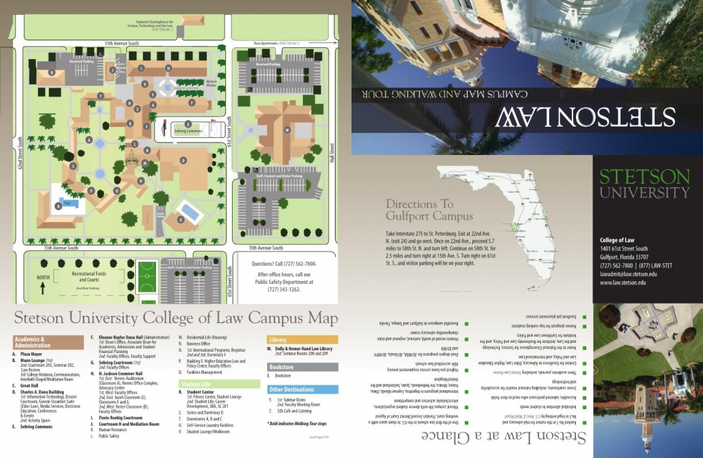 2010 Stetson Law Campus Map And Walking Tourstetson University - State College Of Florida Bradenton Campus Map