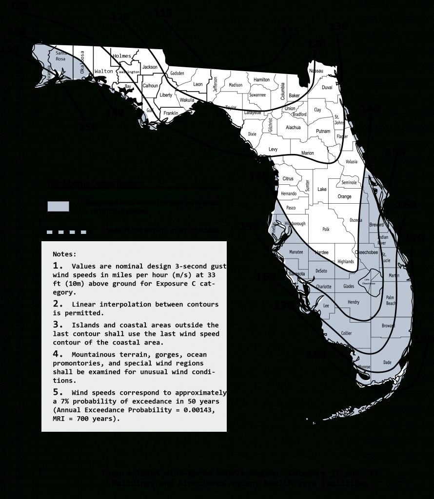 2010 Wind Maps - Florida Wind Speed Map