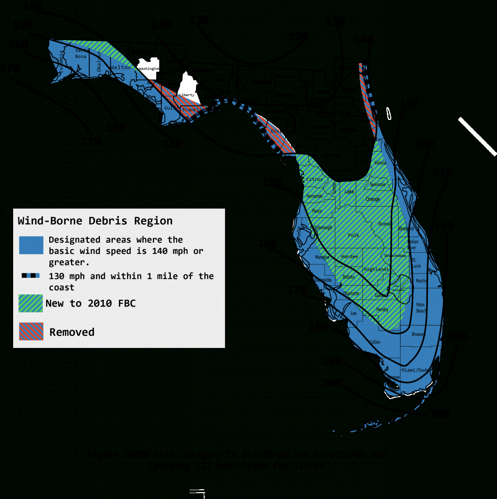 2010 Wind Maps - Florida Zone Map