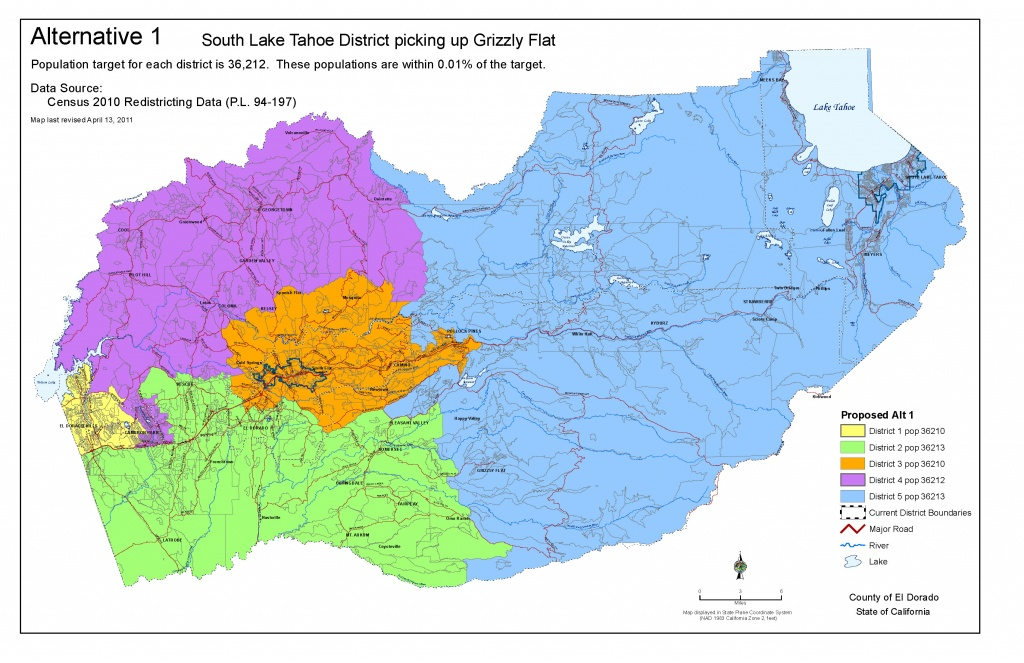 2011 Redistricting Document Archives - El Dorado County California Parcel Maps