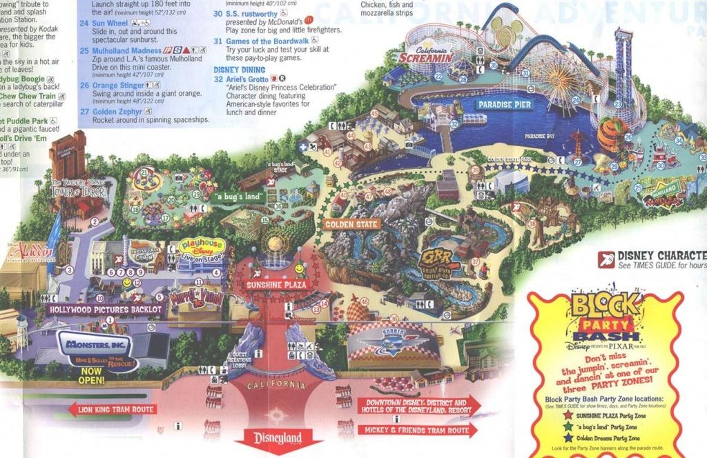 2013 Disneyland Adventure Park Map | Disney's California Adventure - Disneyland Map 2018 California