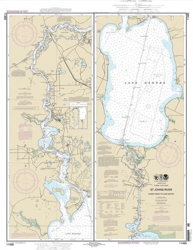 2013 Map Of St Johns River & Lake George Florida   Etsy - Lake George Florida Map