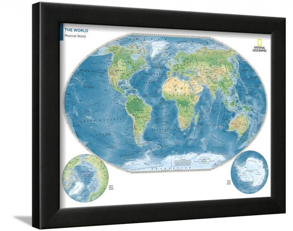 2014 Physical World Map - National Geographic Atlas Of The World - National Geographic World Map Printable
