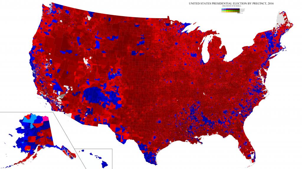 2016 Presidential General Election Maps – Ryne Rohla - California Voting Precinct Map