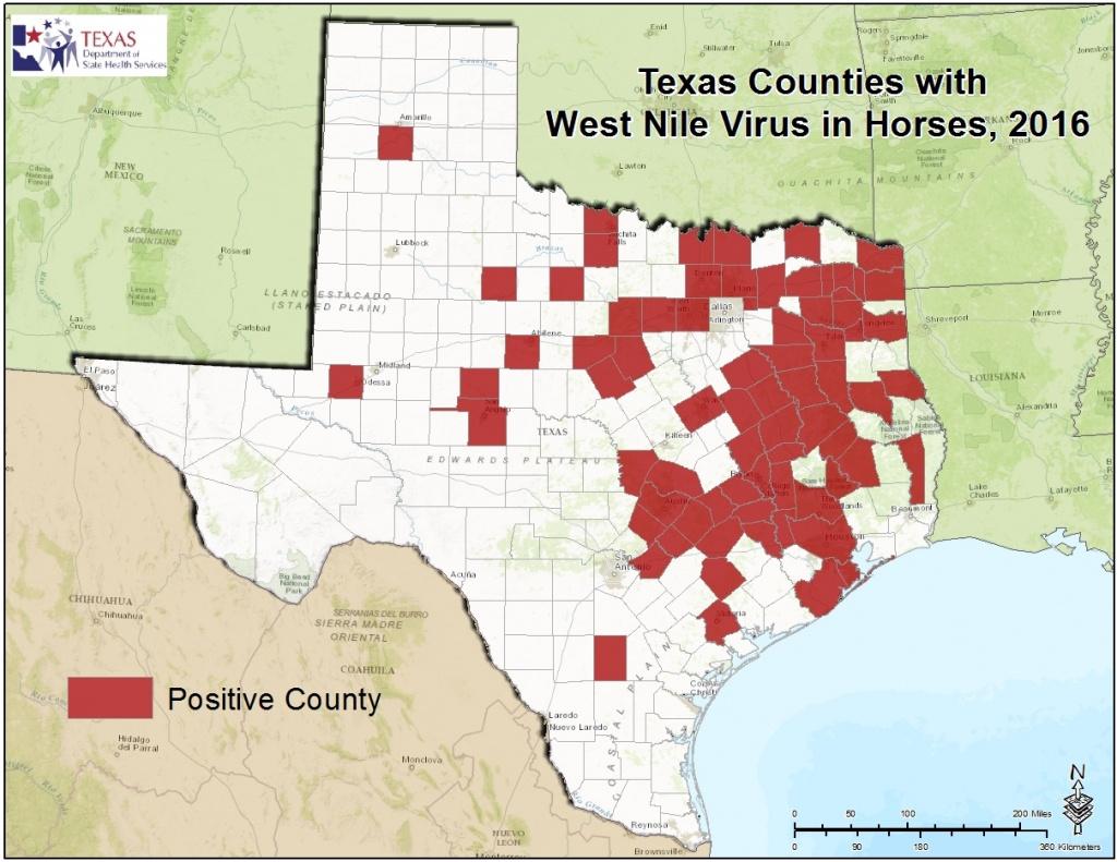 2016 Texas West Nile Virus Maps - Texas Zika Map