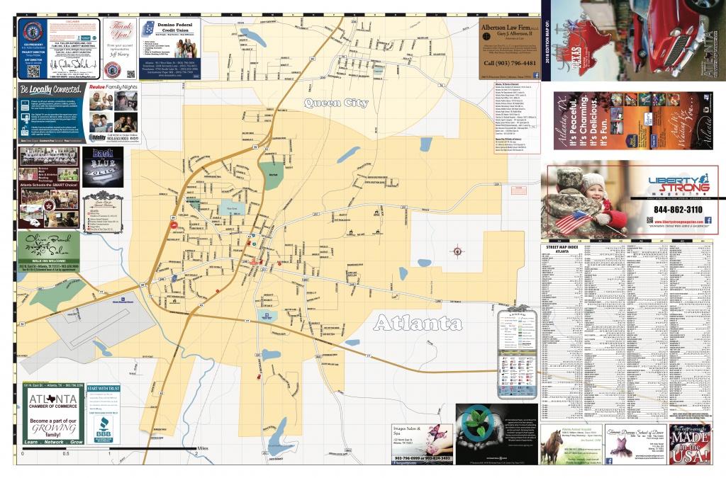 2018 Edition Map Of Atlanta, Tx - Atlanta Texas Map