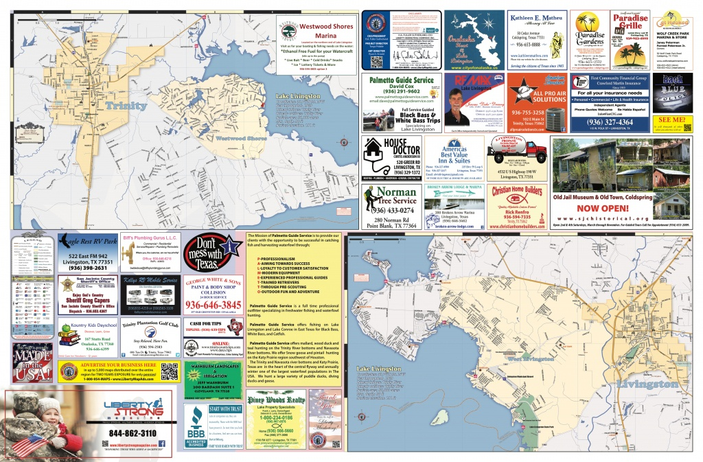 2018 Edition Map Of Lake Livingston, Tx - Map Of Lake Livingston Texas