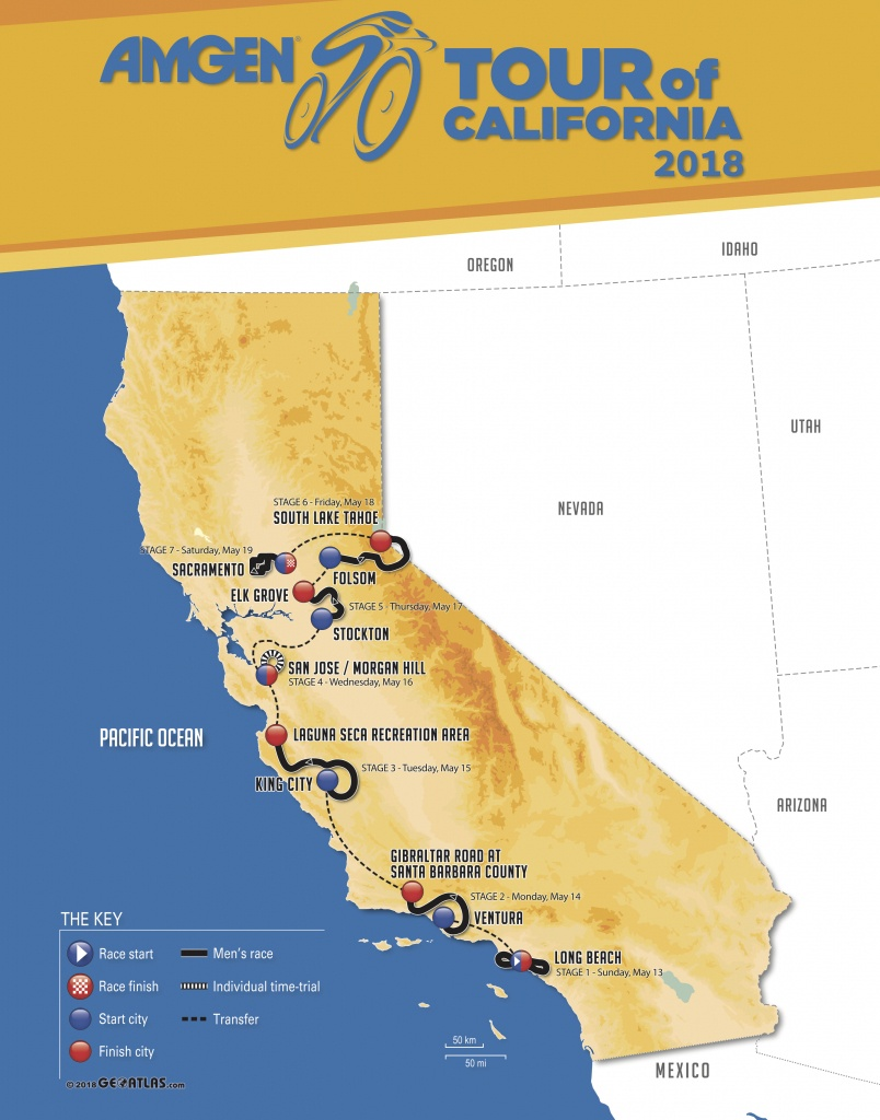 2018 Women's Archive | Amgen Tour Of California - Tour Of California 2018 Map