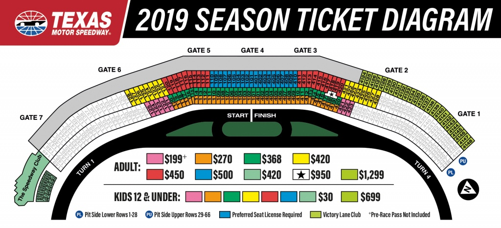 2019 Season Tickets To Texas Motor Speedway - Texas Motor Speedway Map