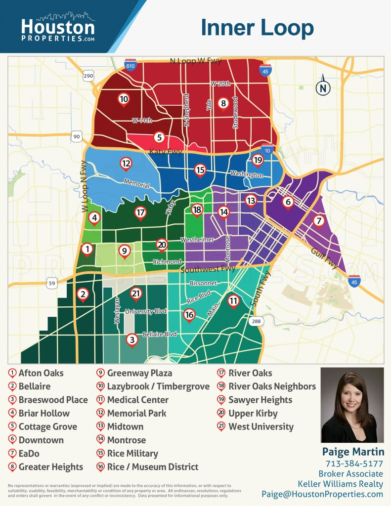 2019 Update: Houston Neighborhoods | Houston Map, Real Estate, Homes - Show Me Houston Texas On The Map