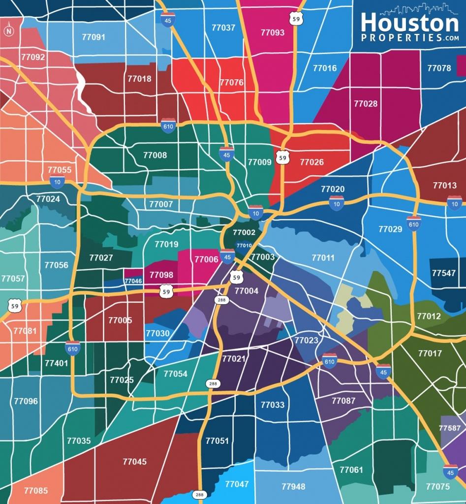 2019 Update: Houston Texas Zip Code Map   Houstonproperties - Houston Zip Code Map Printable