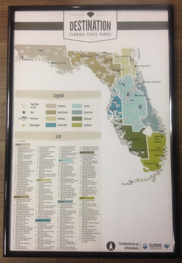 """24"""" X 36"""" Poster Map Of Florida State Parks.   Stuff We're Gonna Do - Florida State Parks Map"""