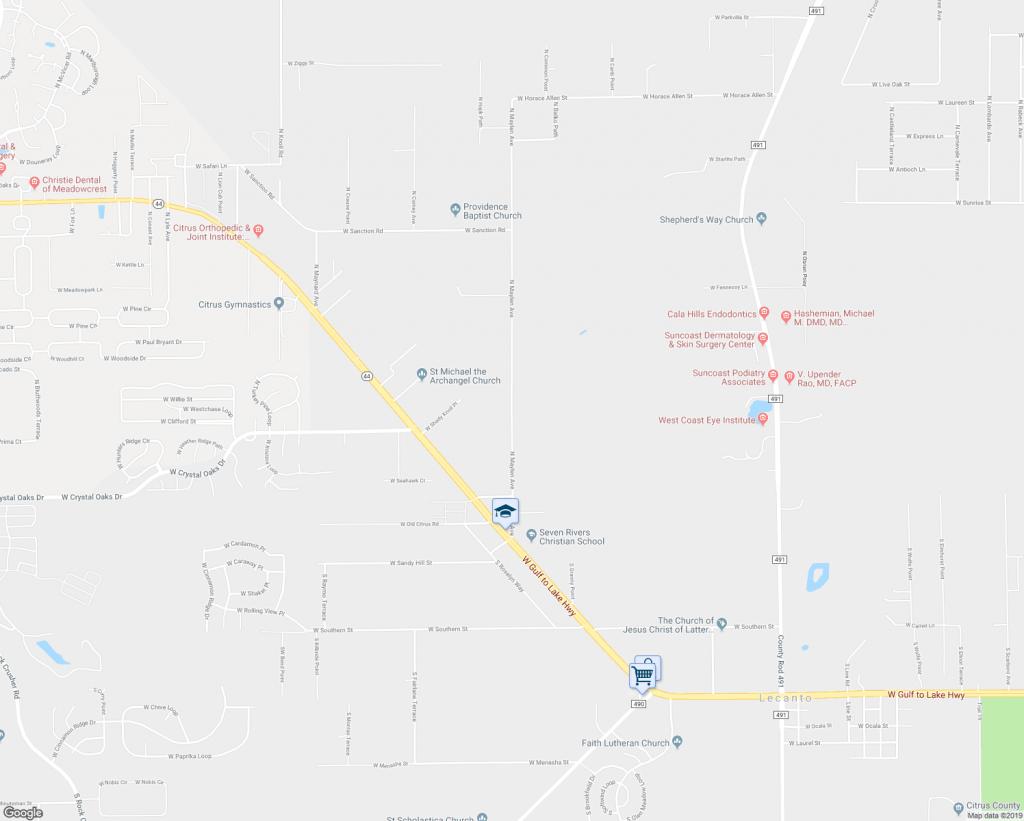 245 North Maylen Avenue, Lecanto Fl - Walk Score - Lecanto Florida Map