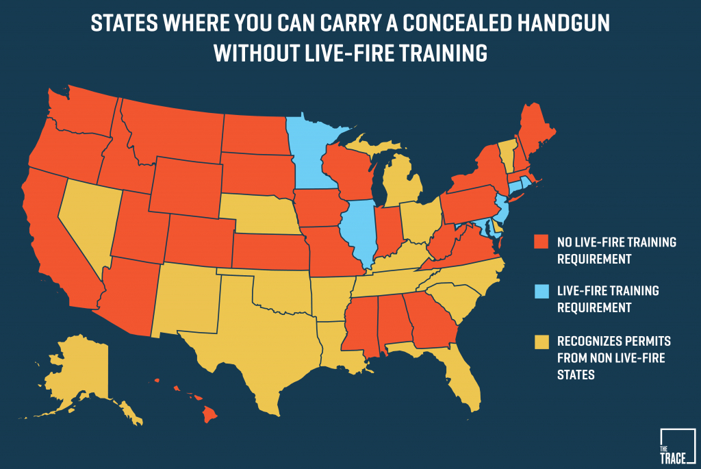 26 States Will Let You Carry A Concealed Gun Without Making Sure You - Florida Concealed Carry Reciprocity Map 2018