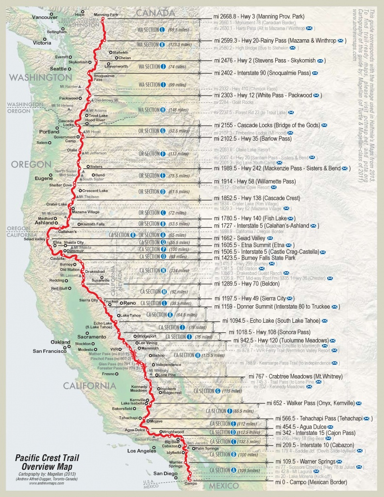 2600 Miles In 4 Minutes: A Time-Lapse Video Of Andy Davidhazy's - Northern California Hiking Map