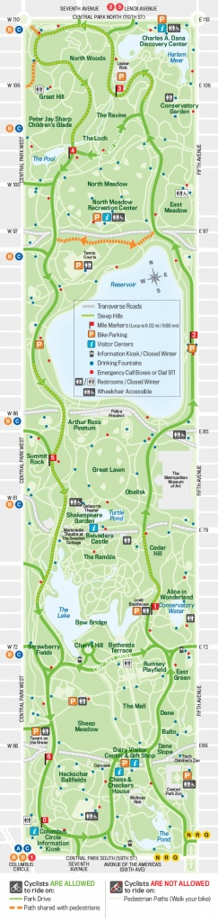 27 Things To Do In Central Park   Free Toursfoot - Printable Map Of Central Park