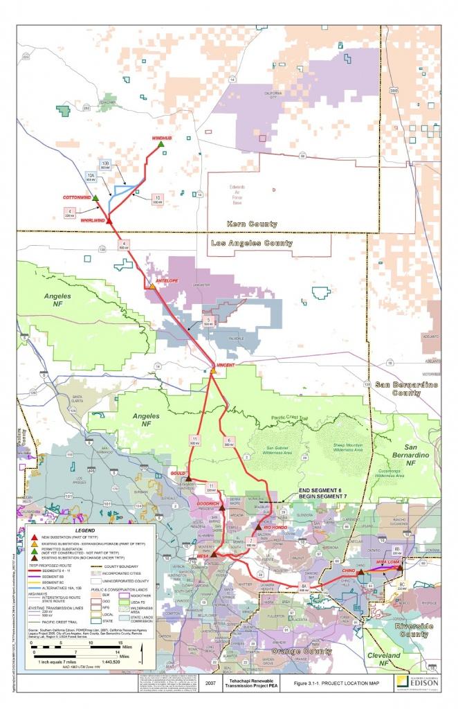 3.0 Project Description - High Voltage Power Lines Map California
