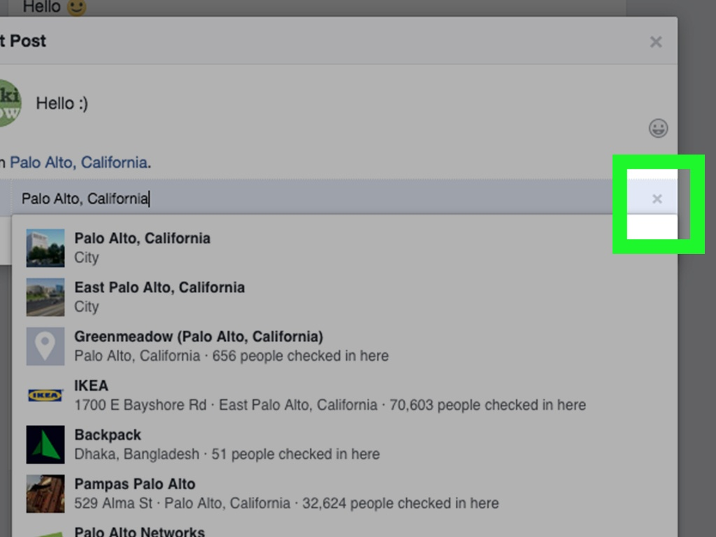 3 Ways To Remove A Location From Your Map On Facebook Timeline - Ikea Locations California Map
