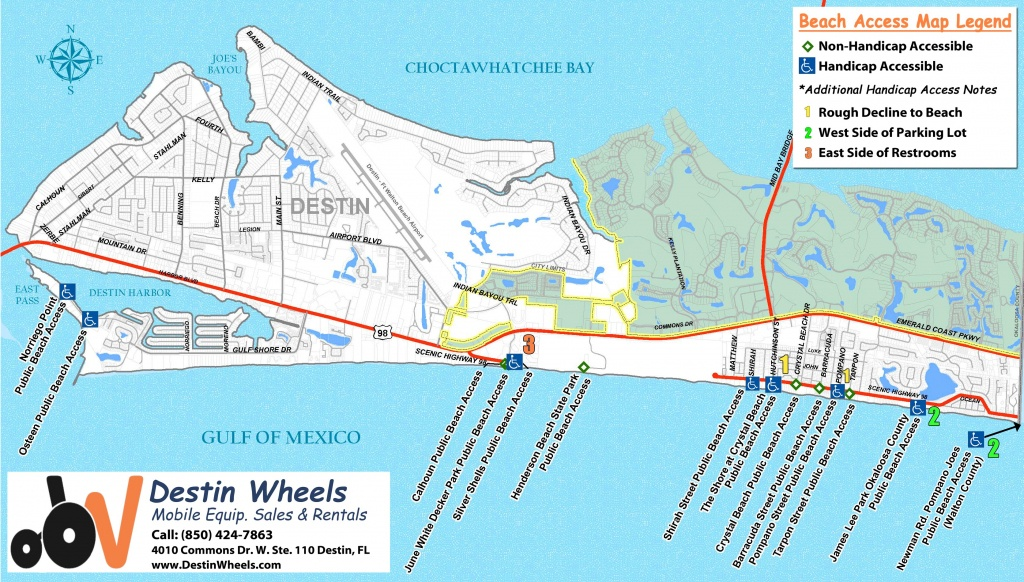30A & Destin Beach Access - Destin Wheels Rentals In Destin, Fl - Map Of Destin Florida Condos