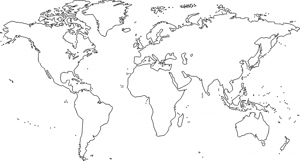 38 Free Printable Blank Continent Maps   Kittybabylove - Printable World Map Outline Ks2