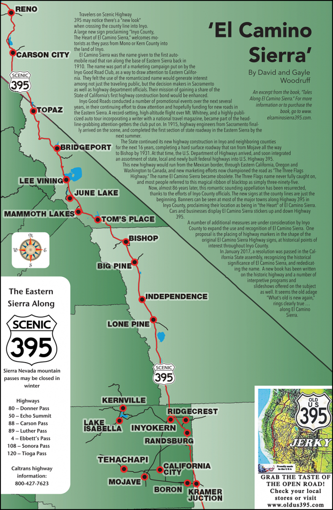 395 Map - Scenic 395 - California Scenic Highway Map