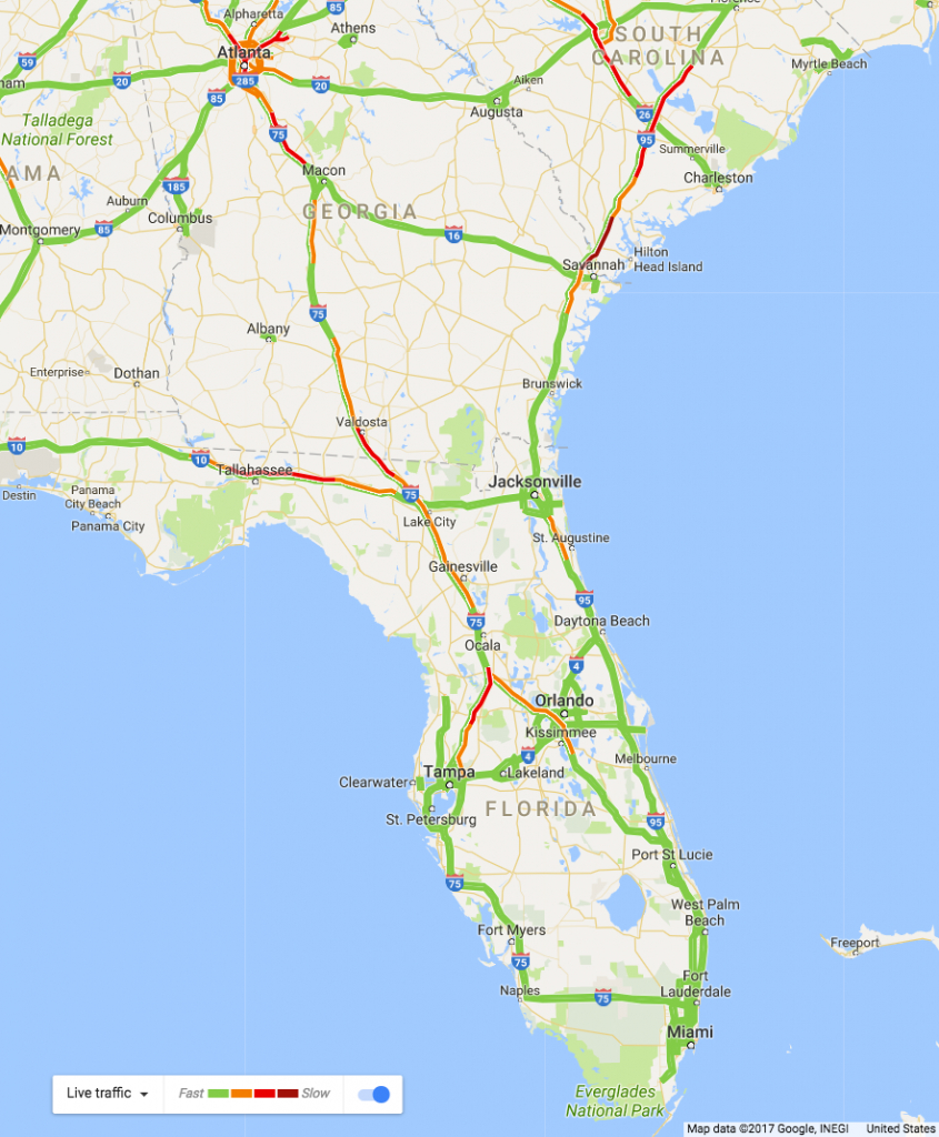 4 Maps That Show The Gigantic Hurricane Irma Evacuation | Wired - Florida Traffic Map