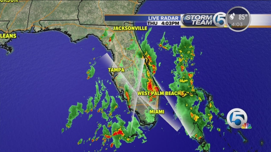 4 P.m. Thursday Weather Forecast For South Florida - Youtube - Weather Channel Florida Map