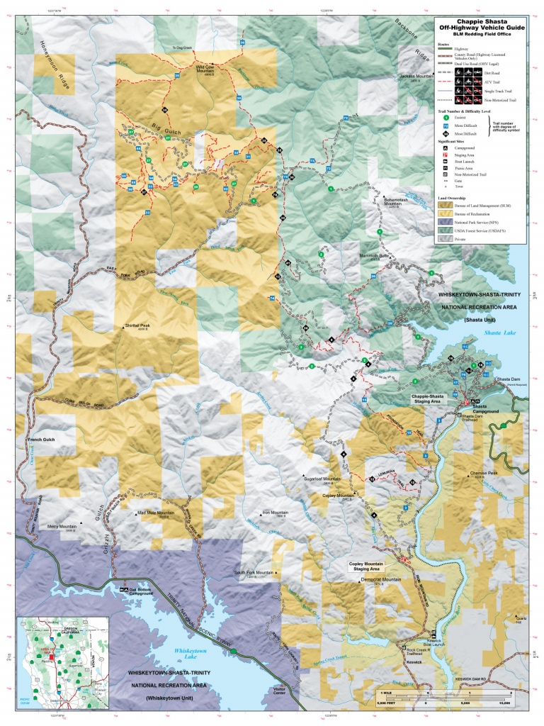 4X4Trailmaps - Chappie-Shasta - California Ohv Map