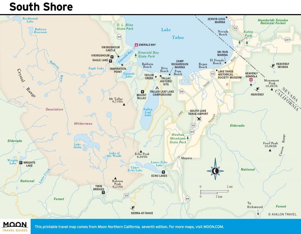 5 Best Sights In South Lake Tahoe | Tahoe | Lake Tahoe, South Lake - South Lake Tahoe California Map
