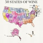 50 States Of Wine (Map) | Wine Folly   Texas Wine Trail Map